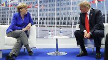 Angela Merkel und Donald Trump dürften bald auf einem neuen Feld aneinandergeraten: der Energiepolitik.