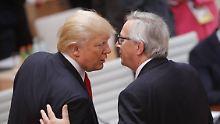 Lieber Freund als Feind: Juncker reist für Handelsdialog zu Trump