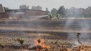 Hohe Waldbrandgefahr: Flammen in NRW kommen Häusern bedrohlich nahe