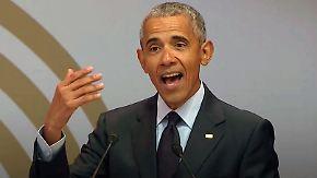 """Obama keilt indirekt gegen Trump: """"Politische Führer verlieren jedes Schamgefühl"""""""