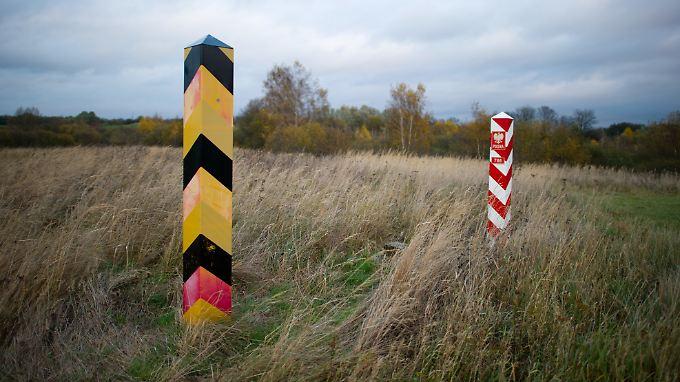 Die deutsch-polnische Grenze in Brandenburg.