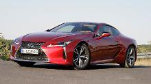Rassige Optik: Nur in Nuancen unterscheidet sich der Lexus LC 500 von der Studie LC-LF.