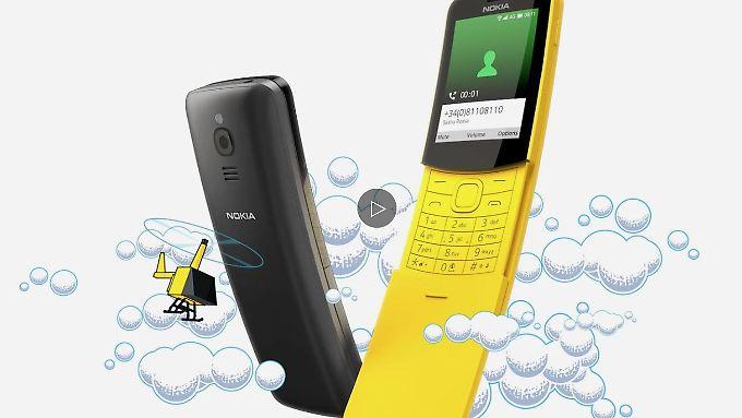 Verspielt statt edel: Das neue Nokia 8110 ist kein Business-Handy.