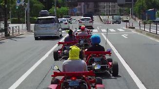 Videospiel wird Realität: Super-Mario-Fans flitzen im Gokart durch Tokio
