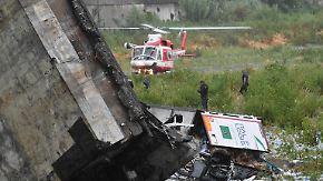 Dutzende Tote in Genua: Brücke der A10 bricht bei Unwetter ein