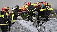 """""""Es ist die Hölle"""": Italien trauert nach Brückenunglück in Genua"""