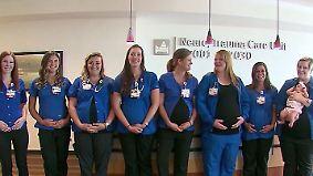 Kaum zu glauben, aber wahr: Neun Krankenschwestern einer Station zeitgleich schwanger