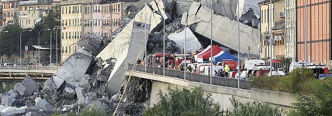 Einsatz in Genua: Retter bergen Leiche des letzten Vermissten