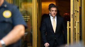 """Zwei Ex-Trump-Vertraute schuldig: Cohen gesteht Schweigegeldzahlung im Auftrag """"eines Kandidaten"""""""