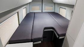 Das Bett im Untergeschoss des Grand California.