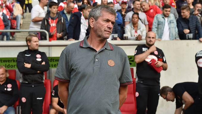 Mit Düsseldorf zurück in der Bundesliga: Fortuna-Coach Friedhelm Funkel.