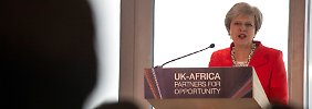 Neue Handelspartner in Afrika: May spielt harten Brexit herunter