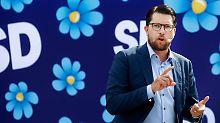 Jimmie Åkesson und seine Schwedendemokraten könnten den zweiten Platz belegen.