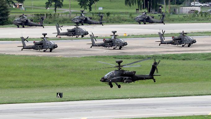 Die gemeinsamen Manöver von US- und südkoreanischen Streitkräften sorgen regelmäßig für Spannungen mit Nordkorea.
