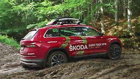 Schlammbad auf dem Balkan: Skoda Kodiaq Scout trotzt Stock und Stein