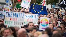 Vereinzelt Gewalt bei Demos: In Chemnitz wurden 18 Menschen verletzt