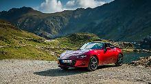 An der Optik des Mazda MX-5 hat sich auch in der vierten Modellgeneration, bis auf neu lackierte Räder, gar nichts geändert.