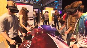 Virtual und Mixed Reality auf der IFA: Schweizer Start-Up vermischt echten Kicker mit Videospiel