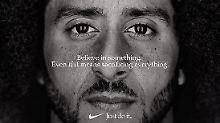 Der Stein des Anstoßes: Colin Kaepernick in der Kampagne des Sportartikelherstellers.