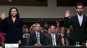 Anhörung zur Wählerbeeinflussung: Facebook und Twitter räumen Fehler ein
