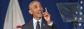 """Klare Worte im Zwischenwahlkampf: Obama über Trump: """"Das ist nicht normal"""""""