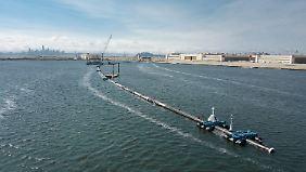 """Startschuss für """"The Ocean Cleanup"""": Riesiger Vorhang soll Pazifik vom Plastik befreien"""