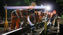Weniger Verspätungen: Bahn setzt auf mehr Nacht-Baustellen