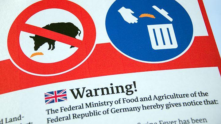 Die achtsame Entsorgung von Speiseresten, die mit ASP-Erregern verseucht sind, ist laut Landwirtschaftsministerin Julia Klöckner besonders wichtig.