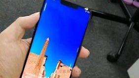 Das Huawei Mate 20 Pro sieht von vorne dem iPhone XS Max wohl ziemlich ähnlich.