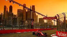 Vettel fährt im Qualifying von Singapur bei stimmungsvoller Kulisse nur hinterher.