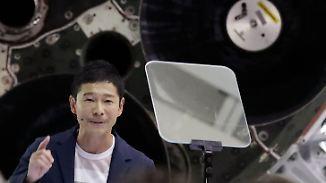 383.000 Kilometer - und wieder zurück: Elon Musk präsentiert ersten Mond-Touristen