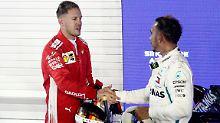 Dem Konkurrenten gratulieren? Darauf hat Sebastian Vettel keine Lust.