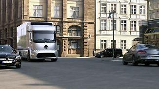 Fahrerlos, umweltfreundlich - und zu spät?: Deutsche Nutzfahrzeuge brummen in die Zukunft