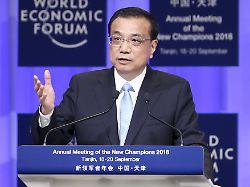 Nach Eskalation im Zollstreit: Chinas Premier wirbt für Freihandel