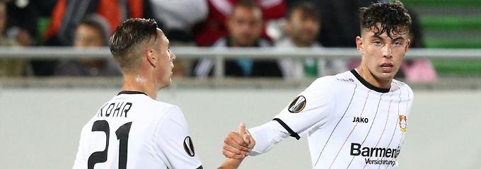 Favoriten erfüllen EL-Pflicht: Havertz stoppt Bayer-Krise, AC Mailand zittert