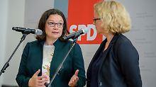 Schwere Tage für Andrea Nahles. Von Bayerns SPD-Chefin Natascha Kohnen muss sie sich Kritik anhören.