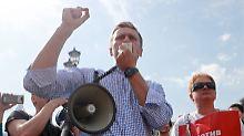 Alexej Nawalny bei einer Kundgebung im Mai dieses Jahres.