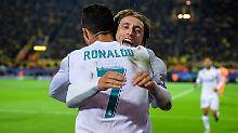 Bis zur vergangenen Saison jubelten sie noch gemeinsam für Real Madrid: Luka Modric und der Mann mit der Nummer 7.