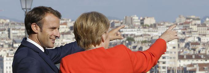 Ein Jahr nach Macrons Europarede: Kritik an Merkels geringem EU-Engagement