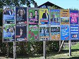 Wahlplakate Landtagswahl in Bayern 2018