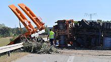 Lkw-Reifen geplatzt: Vier Menschen sterben bei Unfall auf A9