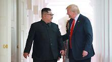 """""""Ich kann im Moment nicht weg"""": Trump will Kim nach Kongresswahlen treffen"""