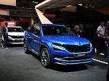 Mit neuem Hoheitszeichen und 240 PS unter der Haube präsentiert sich der Kodiaq RS in Paris.