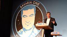 """Witze über """"Bavaria One"""": Markus Söder schießt Bayern ins All"""