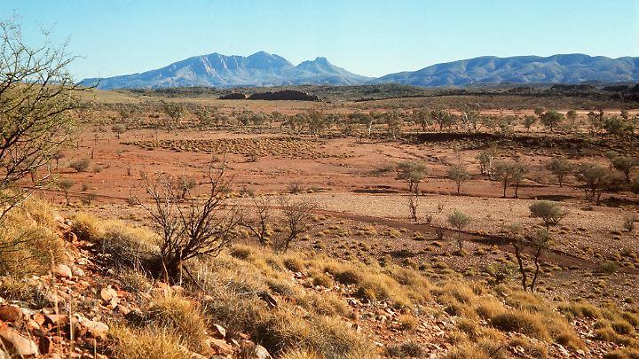 Das australische Outback ist heiß und trocken.