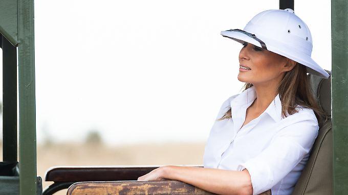 Mit dieser Kopfbedeckung leistete sich Melania Trump einen Fauxpas.