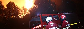Mindestens 18 Verletzte: Feuerwehr bekämpft Waldbrand bei Lissabon