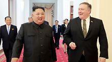 Pompeo besucht Kim in Pjöngjang: USA und Nordkorea sehen Fortschritte