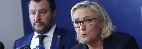 Italiens Innenminister Matteo Salvini und die französische Rechtspolitikerin Marine Le Pen gehen gemeinsam in den EU-Wahlkampf.