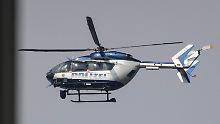 Streifenwagen und Hubschrauber: Polizei jagt Autofahrer mit Großaufgebot